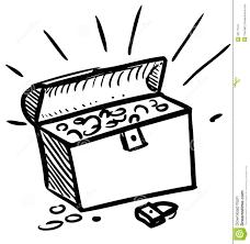 mansion clipart black and white treasure box black and white clipart 1949951