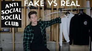 anti social social club real vs fake youtube