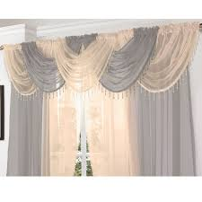 crystal beaded voile swag net valance pelmet for curtains slot