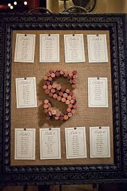 wedding table assignment board large black frame cork board with wine cork letter s and table