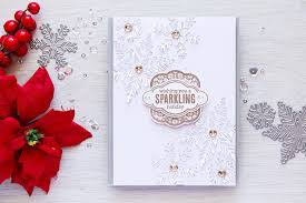 arts 3dimensional snowflakes card and