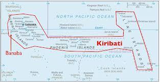 Fiji Islands Map The Anomaly Of Banaba Island Part Of Kiribati But Administered