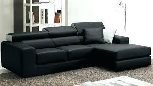 canapé d angle en cuir pas cher canape d angle noir cuir canapac dangle noir en cuir 4 personnes