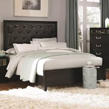 Cool Bedframes Black Wooden Bed Frame With Tufted Leather Headboard And White