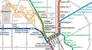 Map Of Dallas Fort Worth Airport by Light Rail Links Dfw Airport To Downtown Dallas Australian