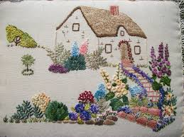 hayfield cottage cottage garden embroidery