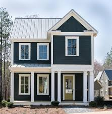 house color charcoal with white trim outdoor spaces