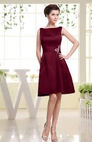knee length bridesmaid dresses burgundy color bridesmaid dresses uwdress
