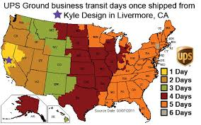 kyle design shipping rates delivery times