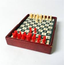 unusual chess sets game house martin series boxed travelling chess set circa 1960s