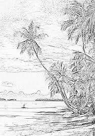 paysage au bord de la rivière coloriage pinterest scenery