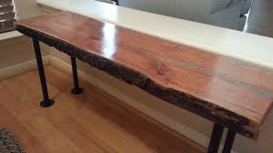 live edge table with turquoise inlay hand crafted live edge cherry wood slab coffee bench table w