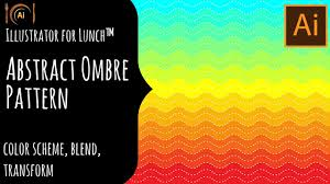 illustrator for lunch abstract ombre background color scheme
