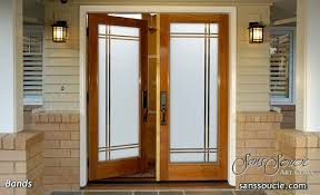 Front Door Glass Designs Bandsetched Glass Front Doors Modern Style