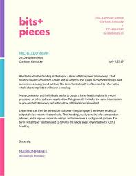 snazzy corporate letterhead templates by canva