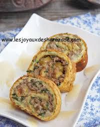 recette cuisine orientale cuisine du ramadan roulé salé recette viande hachée omelette
