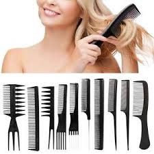 hair combs black 10pcs hair combs kits salon barber hairbrush anti static