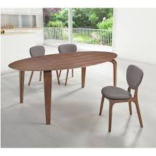 zuo virginia key oval walnut dining table dining tables vancouver