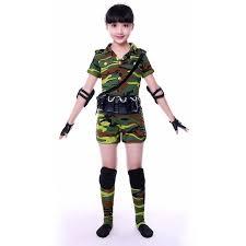 camo army uniform dance costumes for kids military uniform women