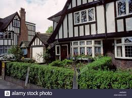 half timbered mock tudor style houses ealing london england