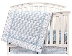 blue sky 3 piece crib bedding set trend lab