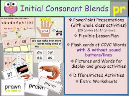 phonics initial consonant blend pr ccvc words presentations