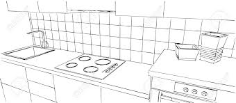 dessins de cuisine dessiner en perspective une cuisine comment dessiner sa chambre