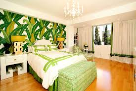 Black And White And Green Bedroom Bedroom Lovable Green Tropical Palm Beach Wall Decals Added White