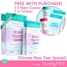 qoo10 intense detox skinnymint official besties teatox free