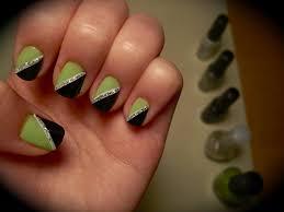 black silver green nail art pinterest black silver green