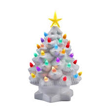 porcelain christmas tree with lights amazon com mr christmas 10 inch nostalgic porcelain led christmas