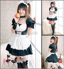 Maid Costumes Halloween Fashion Japanese Anime Eva Cosplay Maid Fancy Dress