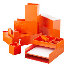 Business Card Dispenser Orange Poppin Business Card Holder The Container Store