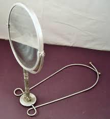 Antique Vanity Mirror Vintage Vanity Mirror Vue Back Barber Mirror Clips Around Neck
