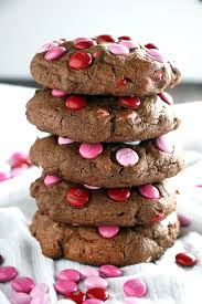 valentines day cookies big chocolate m m s day cookies the salty marshmallow