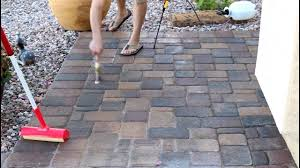 How To Seal A Paver Patio by Diy Sealing Pavers Youtube