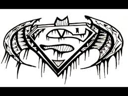 how to draw tribal superman logo tattoo youtube