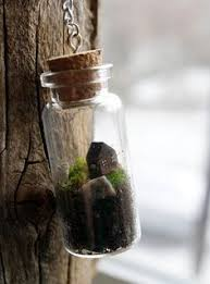 tiny terrarium necklace with live kentucky moss terrarium
