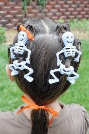 Dancing Halloween Skeleton by Princess Piggies Halloween Hairdos Dancing Skeletons