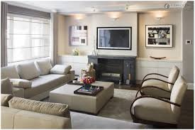 interior living room with corner fireplace and tv decorating