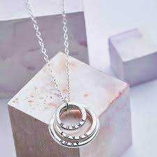ring with children s names kids name necklace breakpoint me
