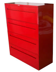 Lateral File Cabinet Used by File Cabinets Impressive Red Filing Cabinets 83 Red Metal Filing