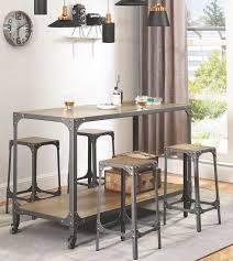 The Powder Room Galway Gunmetal Chrome Powder Kitchen Island From Coaster Coleman Furniture