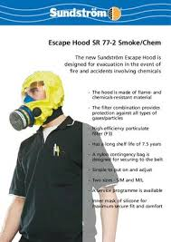 Flame And Comfort Escape Hoods Uk By Sundström Safety Ab Issuu