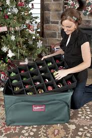 Christmas Ornament Storage Dividers by Amazon Com Treekeeper Ornament Storage Box Home U0026 Kitchen