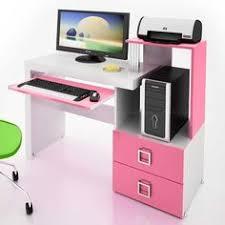Pink Computer Desk Techni Mobili Montego Computer Workstation Pink White