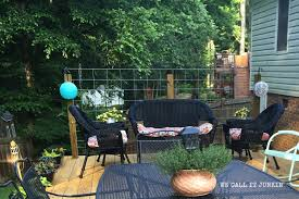 inexpensive privacy trellis for the deck
