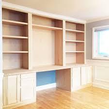 Desk Shelving Ideas Built In Bookshelves And Desk Home How To Shelving Shelf Alcove
