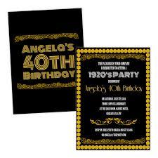 1920 u0027s black gold art deco birthday invitations pack of 10