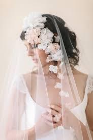 flower veils wedding